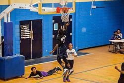 "Devon Freeman, Jr.  Milton M. Newton Summer Classic featuring ""Jah Youths"" versus  the ""Legends"".  Charlottel Amalie High School.  St. Thomas, USVI.  10 August 2016  © Aisha-Zakiya Boyd"