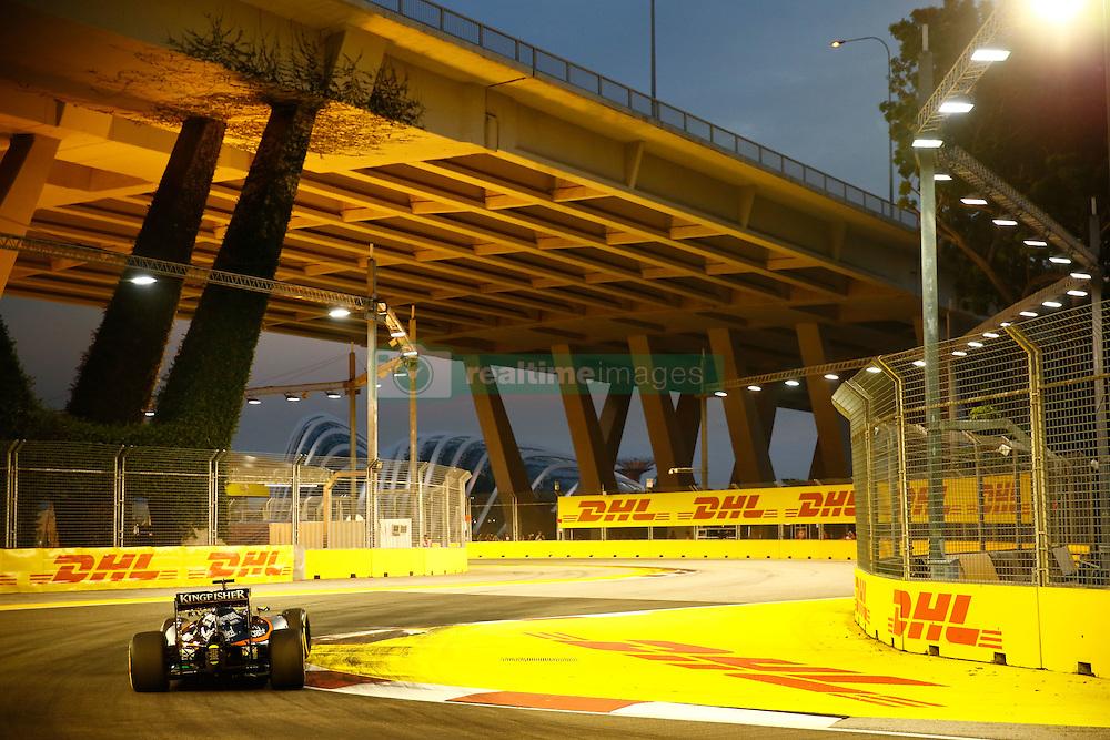 September 16, 2016 - Singapur, Singapur - Motorsports: FIA Formula One World Championship 2016, Grand Prix of Singapore, .#11 Sergio Perez (MEX, Sahara Force India F1 Team) (Credit Image: © Hoch Zwei via ZUMA Wire)