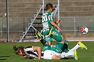 10.9.2016, Paavo Nurmen stadion, Turku.<br /> Ykkönen 2016.<br /> Turun Palloseura - Kokkolan Pallo-Veikot.<br /> Mikael Liespuu (TPS) v Irakli Sirbiladze & Ville Luokkala (KPV).