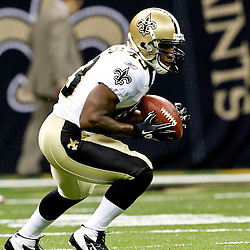 August 12, 2011; New Orleans, LA, USA; New Orleans Saints running back Darren Sproles (43) prior to kickoff of a preseason game against the San Francisco 49ers at the Louisiana Superdome. Mandatory Credit: Derick E. Hingle