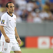 USA midfielder Landon Donovan (10) during a  CONCACAF Gold Cup soccer match between the United States and Panama on Saturday, June 11, 2011, at Raymond James Stadium in Tampa, Fla. (AP Photo/Alex Menendez)