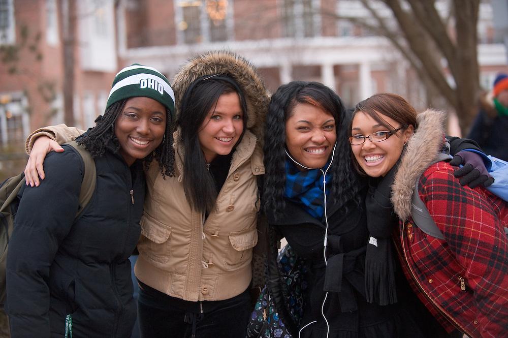 Campus Winter ...Trinity Bracy, Nicole Sari, Camille Monà, Brianne Chavez