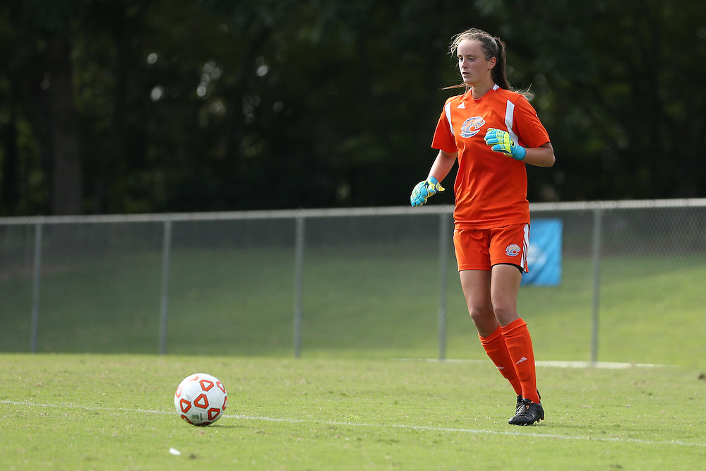 Aug. 24, 2014; Morrow, GA, USA; Clayton State University player Charlotte McCormack during the preliminary game against the University of West Florida at CSU. Photo by Kevin Liles / kevindliles.com