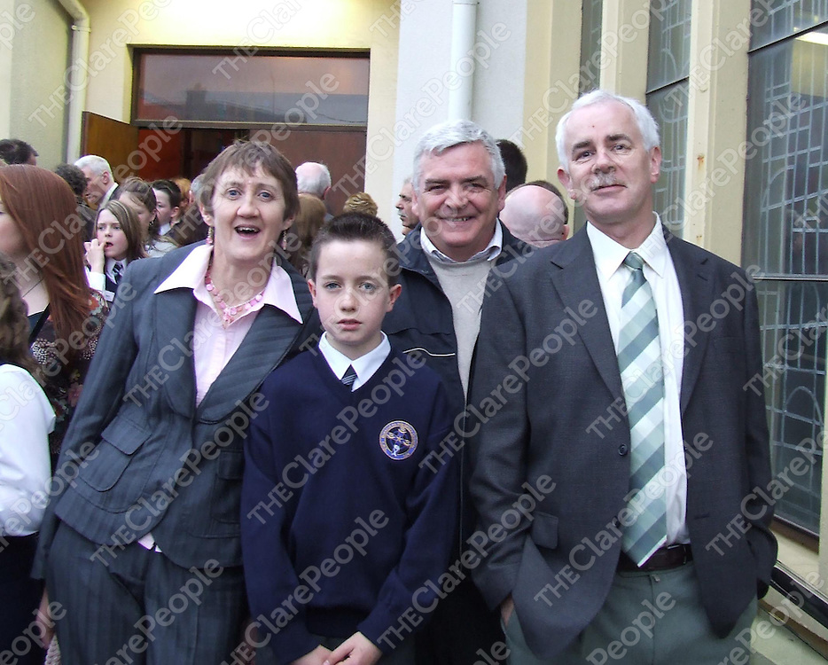 From left Ann Moriarty ,Ciaran Moriarty ,Fergal McNamara (family Friend and Best Man at Wedding) and Karl Henry.
