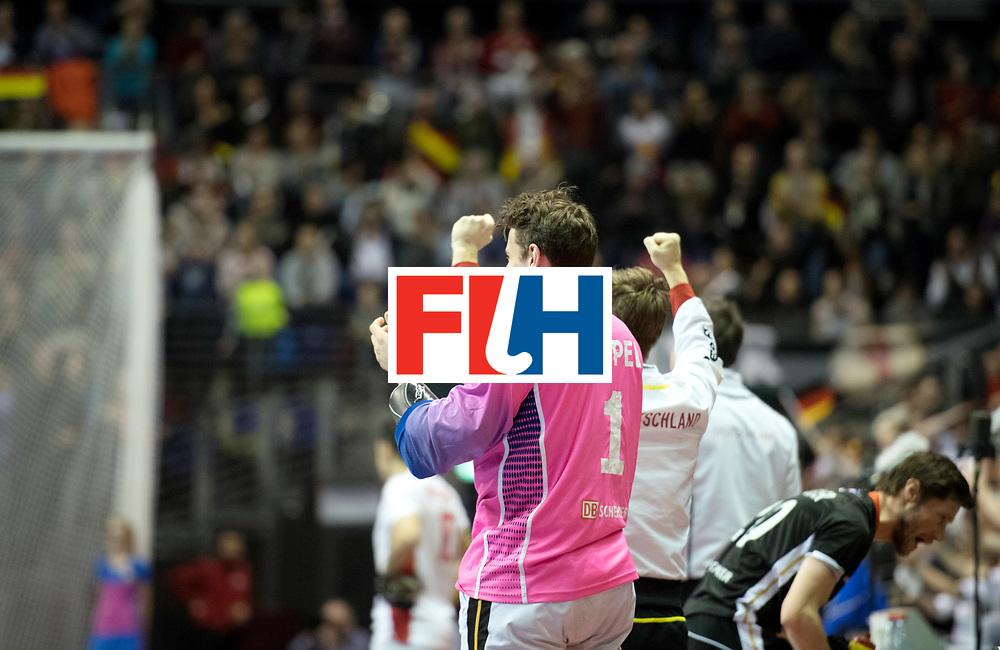 BERLIN - Indoor Hockey World Cup<br /> SF1 Germany - Iran<br /> foto: Mark Appel (GK)  <br /> WORLDSPORTPICS COPYRIGHT FRANK UIJLENBROEK
