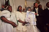 wedding of ethiopian jews in Tel Aviv    Israel  (falashmuras) immigrants from ethiopia   /// Mariage de juifs éthiopierns  à Tel aviv    Israel (falashmuras)  /// R00287/    L004423  /  P0007223