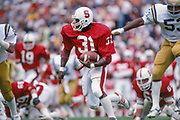 Darrin Nelson #31 of Stanford University in action vs UCLS on Oct 10, 1981 at Stanford Stadium in Palo Alto, California.  Photo © 1981 David Madison.