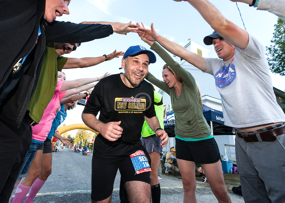 Great Cranberry Island Ultra 50K road race: Seth finishes under tunnel of arms