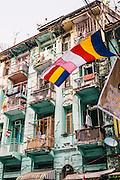 Colonial era buildings. Yangon, Myanmar