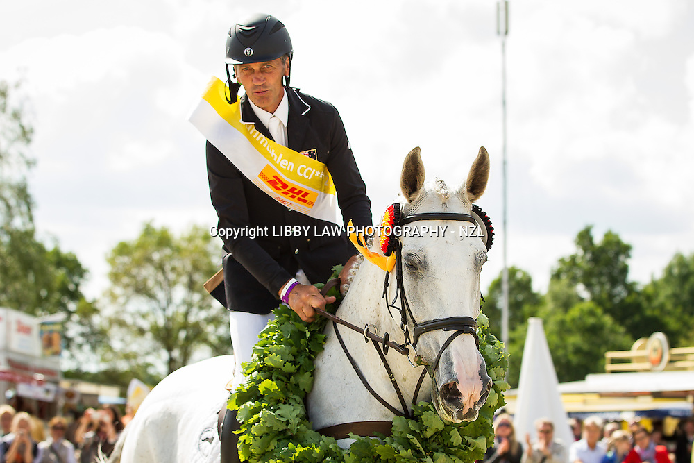 CCI4* TITLE WINNER: NZL-Andrew Nicholson (MR CRUISE CONTROL) CCI4* Show Jumping: FINAL-1ST: 2013 GER-DHL Luhmühlen International Horse Trial (Sunday 16 June) CREDIT: Libby Law  COPYRIGHT: LIBBY LAW PHOTOGRAPHY - NZL