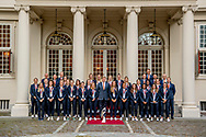 THE HAGUE - King Willem Alexander receives the ladies I football team at Noordeinde lieke martens palace and Sarina Wiegman next to the king The Dutch Women's Football Team won the European Women's Football Championships on 6 August 2017 for the first time in history. The team, led by coach coach Sarina Wiegman, won 4-2 in the final against Denmark. The European Women's Championship (UEFA Women's EURO 2017) was organized on behalf of the European Football Association UEFA and took place in the Netherlands.<br /> The prime minister receives the winners in the afternoon at the Catshuis. Minister of Public Health, Welfare and Sport is also present. Then King Willem-Alexander receives the football women at Noordeinde Palace.