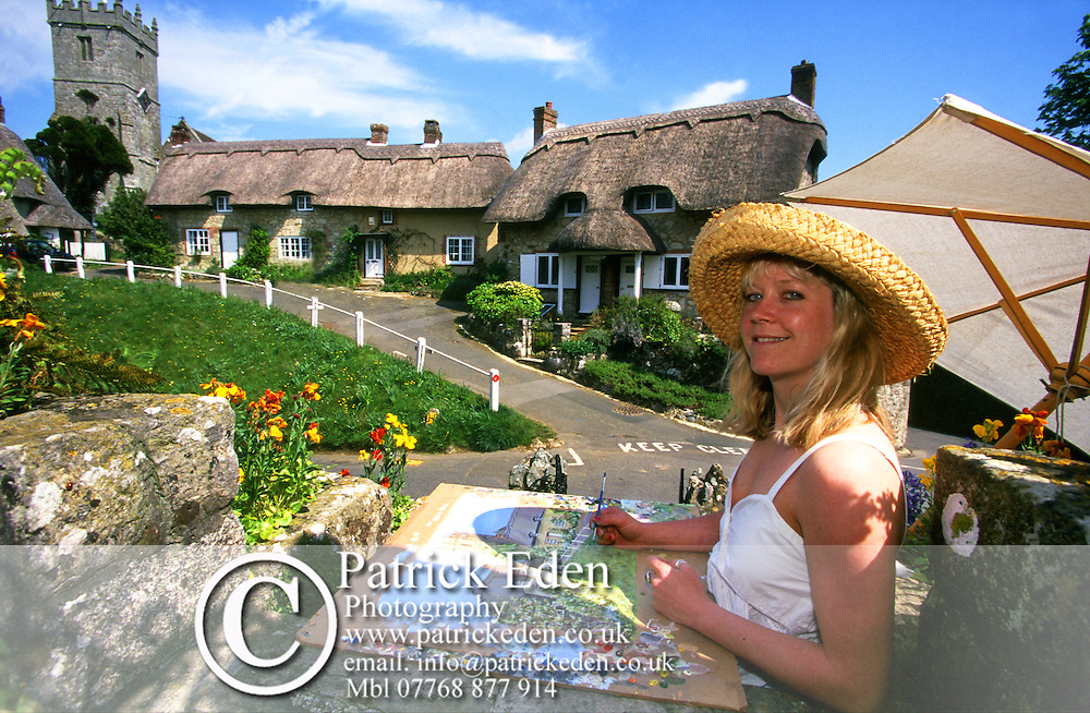 Nicki, Artist, Nicky Gibbs, Godshill, Isle of Wight, England, UK Photographs of the Isle of Wight by photographer Patrick Eden photography photograph canvas canvases