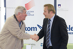 Jure Kastelic and Peter Kukovica when Slovenian athletes and their coaches sign contracts with Athletic federation of Slovenia for year 2009,  in AZS, Ljubljana, Slovenia, on March 2, 2009. (Photo by Vid Ponikvar / Sportida)