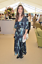 GEORGINA CHAPMAN at the St.Regis International Polo Cup at Cowdray Park, Midhurst, West Sussex on 16th May 2015.