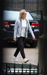 London, September 5th 2017. Home Secretary Amber Rudd arrives in the back entrance to Downing street wearing trainers after having walked to attend the first UK cabinet meeting at Downing Street after the summer recess. ©Paul Davey