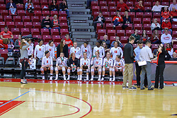 23 November 2017:  Redbird Bench during a college women's volleyball match between the Valparaiso Crusaders and the Illinois State Redbirds in the Missouri Valley Conference Tournament at Redbird Arena in Normal IL (Photo by Alan Look)