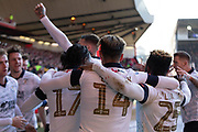 GOAL - Harry Cornick (14) is congratulated by his team mates after scoring during the EFL Sky Bet Championship match between Nottingham Forest and Luton Town at the City Ground, Nottingham, England on 19 January 2020.