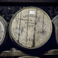 Barrels at Bowmore Distillery in Bowmore, Isle of Islay, Scotland, July 15, 2015. Gary He/DRAMBOX MEDIA LIBRARY