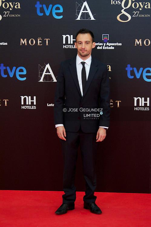 Alejandro Amenabar arrives to Goya Cinema Awards 2013 ceremony, at Auditorium Hotel on February 17, 2013 in Madrid, Spain
