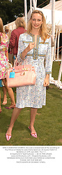 MISS CLEMENTINE HAMBRO, she was a bridesmaid at the wedding of the Prince of Wales to Lady Diana Spencer, at a polo match in Berkshire on 27th July 2003.  PLU 111