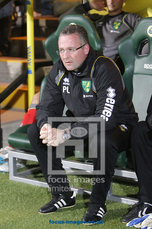 Picture by Paul Chesterton/Focus Images Ltd.  07904 640267.26/9/11.Norwich Manager Paul Lambert before the Barclays Premier League match at Carrow Road stadium, Norwich.