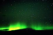 Aurora Borealis on a starry night in Alaska.