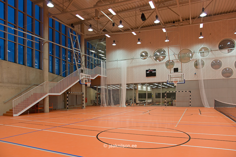 contemporary university sports club gym interior