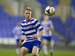 READING, ENGLAND - Wednesday, March 12, 2014: Reading's George McLennan in action against Liverpool during the FA Youth Cup Quarter-Final match at the Madejski Stadium. (Pic by David Rawcliffe/Propaganda)