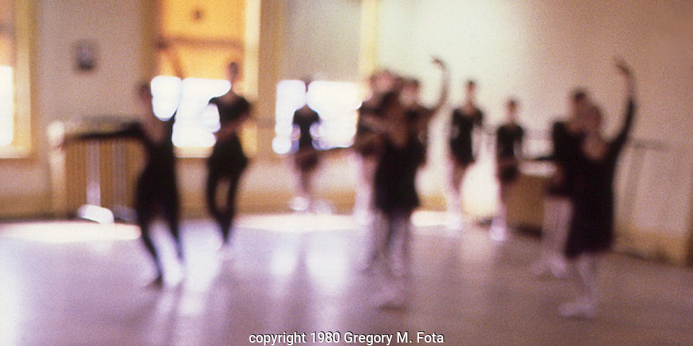Ballet Class --Ballet Guild of the Lehigh Valley dance sudio, Main Street, Bethlehem,PA. April13, 1980.