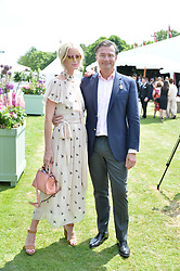 Caroline Winberg and Laurent Feniou at Cartier Queen's Cup Polo, Guard's Polo Club, Berkshire, England. 18 June 2017.<br /> Photo by Dominic O'Neill/SilverHub 0203 174 1069 sales@silverhubmedia.com