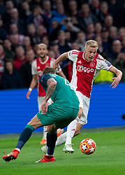 08-05-2019 NED: Semi Final Champions League AFC Ajax - Tottenham Hotspur, Amsterdam<br /> After a dramatic ending, Ajax has not been able to reach the final of the Champions League. In the final second Tottenham Hotspur scored 3-2 / Donny van de Beek #6 of Ajax