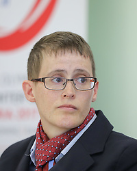 18.03.2017, Congress, Schladming, AUT, Special Olympics 2017, Wintergames, Eröffnungs-Pressekonferenz, im Bild Johanna Pramstaller, Special Olympics International Global Messenger // during the opening press conference in the congress center at the Special Olympics World Winter Games Austria 2017 in Schladming, Austria on 2017/03/17. EXPA Pictures © 2017, PhotoCredit: EXPA / Martin Huber