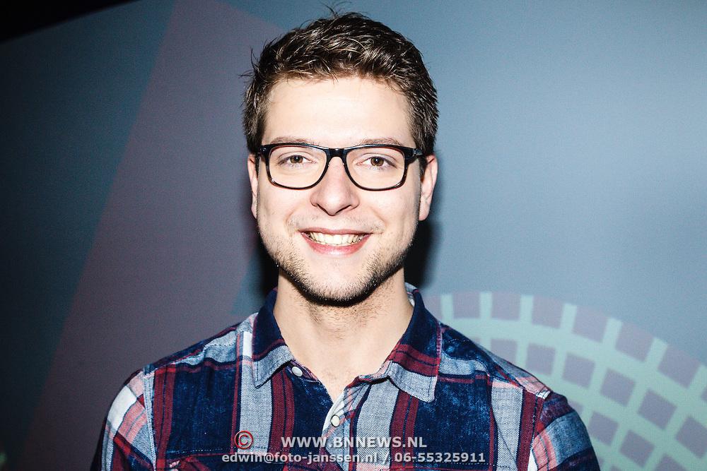 NLD/Hilversum/20160110 - NOS Journaal bestaat60 jaar en viert dit met Festival van het Nieuws, presenatator jeugdjournaal Robbie Kammeijer