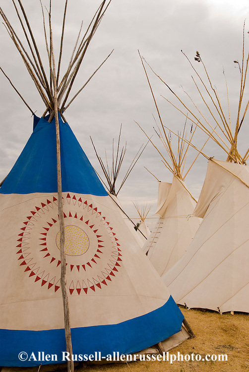 Tipis, Crow Fair, Tipi Capital of the World, Crow Indian Reservation, Montana