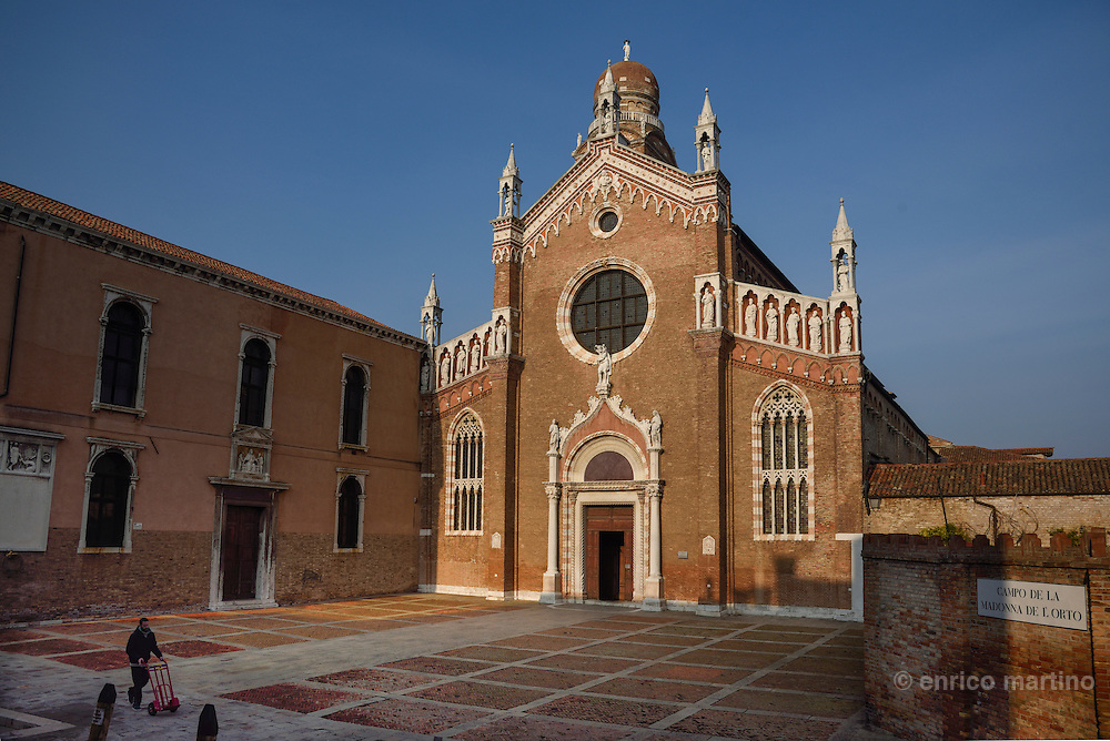 Sestiere of Cannaregio, Church o fthe Madonna dell'Orto where was buried the Italian Renaissance's painter Tintoretto.