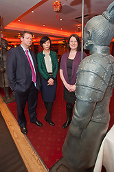 Grant Thornton Chinese Language class at Wong Tings Sheffield..Grant Thornton Partner Paul Houghton with tutor Jinping Xit and Claire Davis..http://www.pauldaviddrabble.co.uk.8  March 2012 .Image © Paul David Drabble