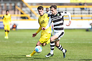 Forest Green Rovers Christian Doidge(9) runs forward during the Vanarama National League match between Southport and Forest Green Rovers at the Merseyrail Community Stadium, Southport, United Kingdom on 17 April 2017. Photo by Shane Healey.