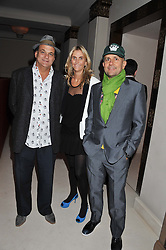 GERRY FOX, JOSIE LINDOP and MARC QUINN at a private dinner hosted by Lucy Yeomans in honour of Jason Brooks at The Cafe Royal, Regent Street, London on 13th February 2013.
