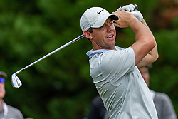 May 4, 2019 - Charlotte, NC, U.S. - CHARLOTTE, NC - MAY 04: Rory McIlroy hits from the 4th hole tee box during the third round of the Wells Fargo Championship at Quail Hollow on May 4, 2019 in Charlotte, NC. (Photo by William Howard/Icon Sportswire) (Credit Image: © William Howard/Icon SMI via ZUMA Press)