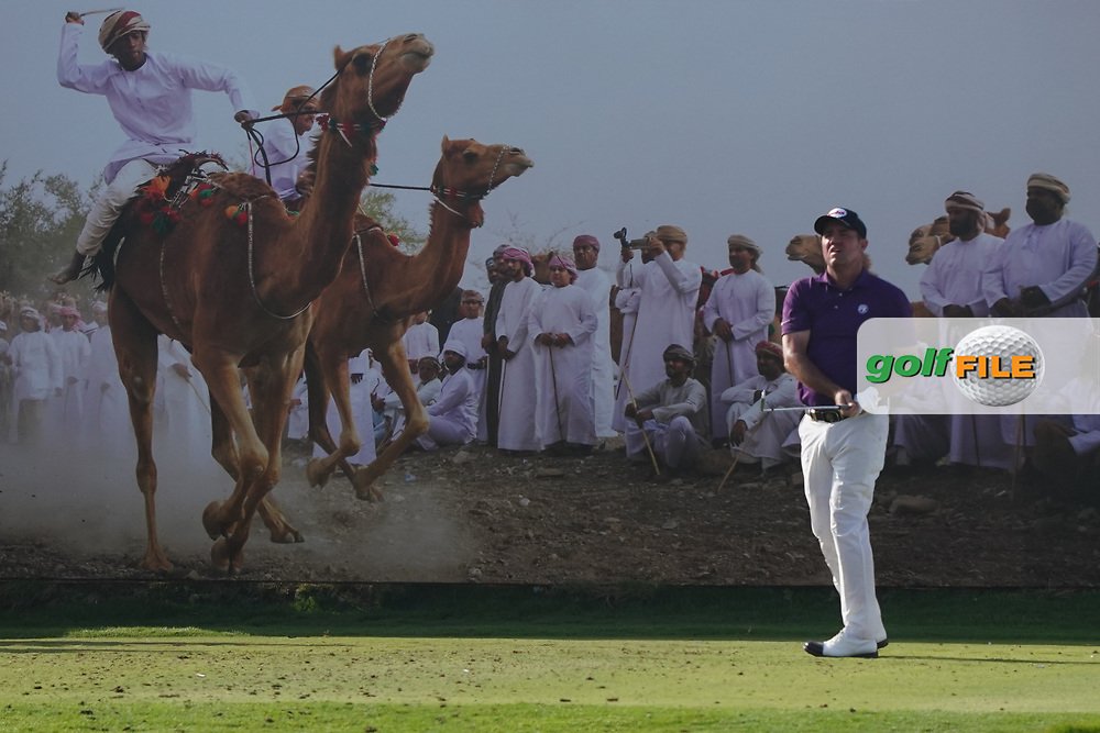 Scott Hend (AUS) on the 8th during Round 2 of the Oman Open 2020 at the Al Mouj Golf Club, Muscat, Oman . 28/02/2020<br /> Picture: Golffile   Thos Caffrey<br /> <br /> <br /> All photo usage must carry mandatory copyright credit (© Golffile   Thos Caffrey)