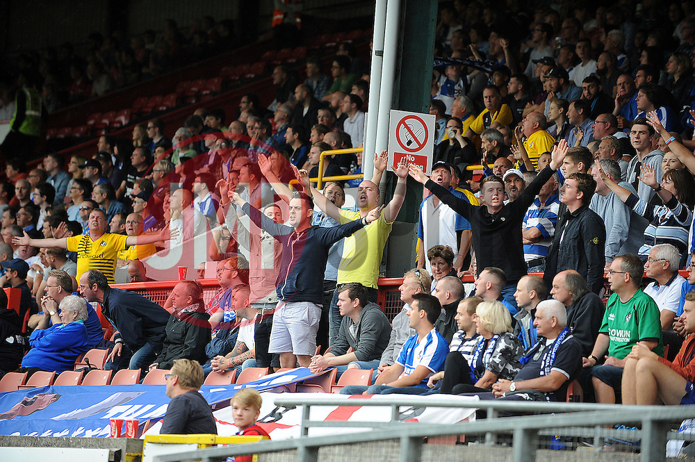 Bristol Rovers fans - Mandatory byline: Neil Brookman/JMP - 07966386802 - 29/08/2015 - FOOTBALL - Matchroom Stadium -Leyton,England - Leyton Orient v Bristol Rovers - Sky Bet League Two