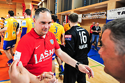 Tamse Branko head coach of RK Celje Pivovarna Lasko during handball match between RK Krka and RK Celje Pivovarna Lasko in the Final of Slovenian Men Handball Cup 2018, on April 22, 2018 in Sportna dvorana Ljutomer , Ljutomer, Slovenia. Photo by Mario Horvat / Sportida