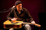 "Harry Manx at the 2008 New York Guitar Festival on Saturday 1/12/2008 at the World Financial Center Winter Garden in lower Manhattan. The opening night concert of the festival was titled the ""Royal Albert Hall"" Project a tribute to Bob Dylan's early 'electric' concerts in England in 1966. Mr. Manx performed 'Baby, Let Me Follow You Down'."
