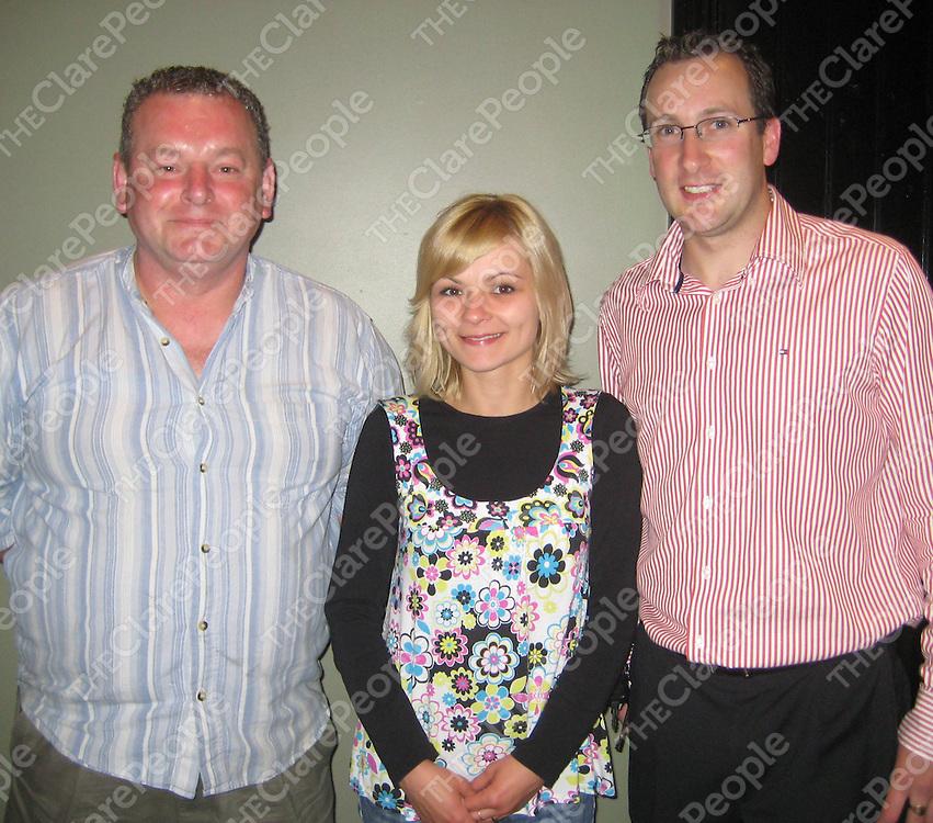 John O'Doherty, Martha Uruska and Mark Kelly at the opening of the newly refurbished Johnno's bar.