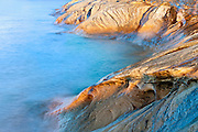 Sandstone at Pictured Rocks National Lakeshore, Lake Superior, Alger County, Michigan