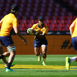 Elton Jantjies of South Africa during the South African - Springbok Captain's Run at Emirates Airline Park,<br /> Johannesburg .South Africa. 08,06,2018 Photo by (Steve Haag Sports)