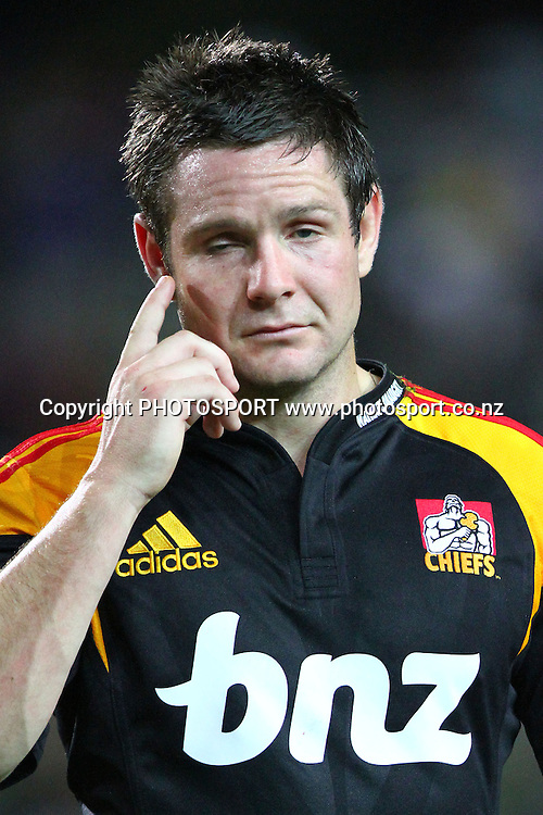 Chiefs' Mike Delany reacts after the loss. Super 14 rugby union match, Chiefs v Reds at Waikato Stadium, Hamilton, New Zealand. Friday 5th March 2010. Photo: Anthony Au-Yeung/PHOTOSPORT