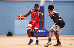 Jalan McCloud of Bristol Flyers dribbles with the ball - Photo mandatory by-line: Arron Gent/JMP - 28/04/2019 - BASKETBALL - Surrey Sports Park - Guildford, England - Surrey Scorchers v Bristol Flyers - British Basketball League Championship