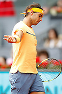 Rafael Nadal during the Madrid Open at Manzanares Park Tennis Centre, Madrid<br /> Picture by EXPA Pictures/Focus Images Ltd 07814482222<br /> 06/05/2016<br /> ***UK &amp; IRELAND ONLY***<br /> EXPA-ESP-160506-0042.jpg