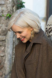 A smiley Games of Thrones star's Emilia Clarke is spotted on the set of a Dolce and Gabbana commercial in Rome. 04 Feb 2018 Pictured: Emilia Clarke. Photo credit: AGOSTINO FABIO/ MEGA TheMegaAgency.com +1 888 505 6342